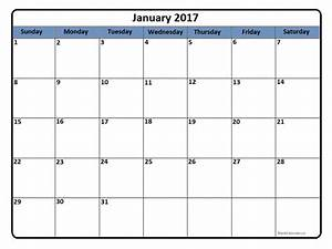January 2017 Calendar   January 2017 Calendar Printable