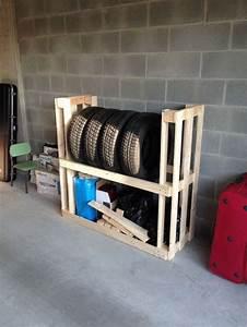 Idée Rangement Garage : fabriquer des meubles avec des palettes en 33 id es ~ Melissatoandfro.com Idées de Décoration