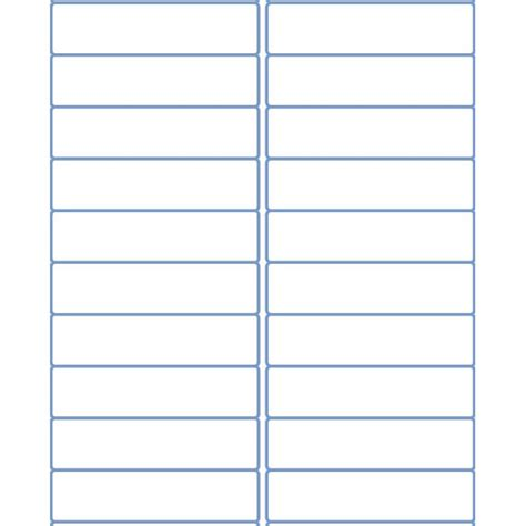 Labels By The Sheet Templates by 4 Quot X 1 Quot Address Sheet Labels For Laser And Inkjet Printers