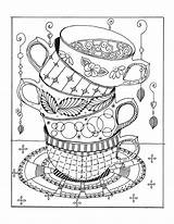 Coloring Adult Cups Printable Stacked Teacup Sheets Tea Stack Coloriage Mandala Coloriages Colorir Dibujos Malvorlagen Ausmalen Quote Desenhos Colouring Ausmalbilder sketch template