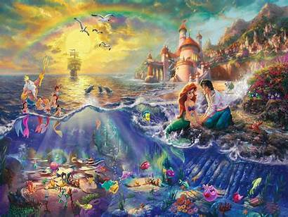 Disney Ipad Wallpapers Thomas Kinkade Mermaid Desktop