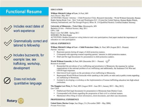Functional Resume For And Development by Essay And Resume Building Tips