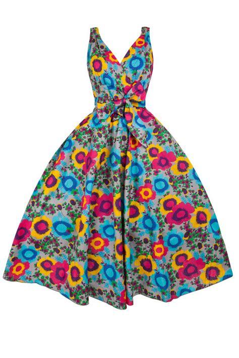 Dress Clipart New 1950s Retro Vintage Floral Cotton Clip