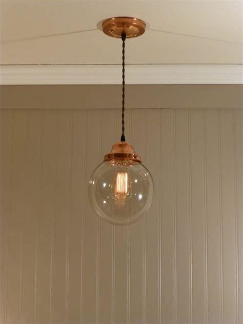 copper pendant light kitchen copper pendant light with blown 8 quot smoked glass globe
