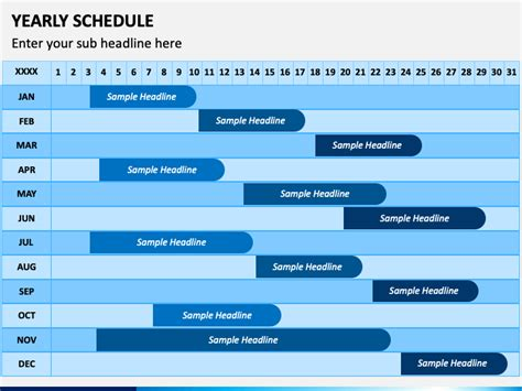 Yearly Schedule PowerPoint Template - PPT Slides ...