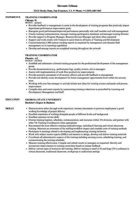 Employment Resume Sles by Coordinator Best 2018