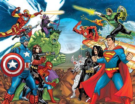 avengers vs justice league color by mannymederos