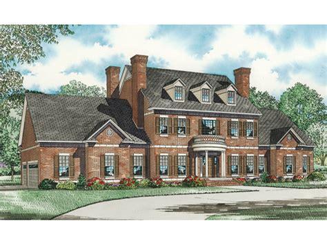 saltsburg luxury georgian home plan   house plans