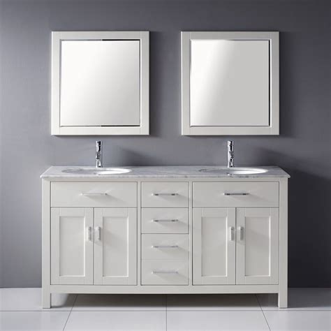 2 sink bathroom vanity shop spa bathe kenzie white undermount double sink