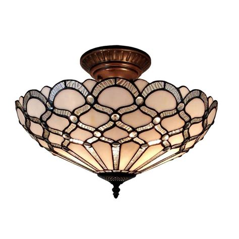 tiffany style ceiling fans with lights amora lighting 2 light tiffany style ceiling fixture l