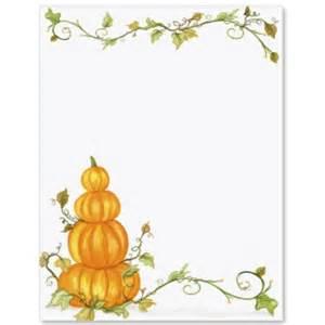 Free Pumpkin Border Paper