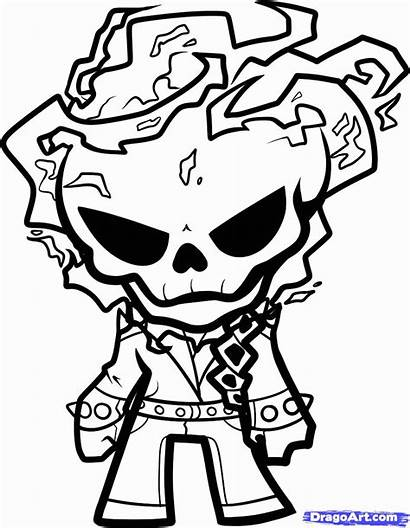 Coloring Ghost Rider Popular