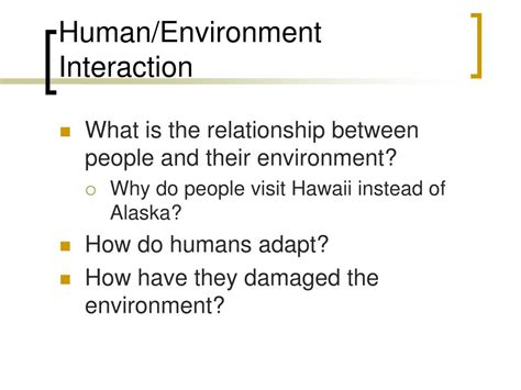 human environment interaction in england
