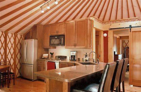 interiors of kitchen yurt interiors pacific yurts