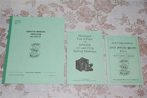 Complete Library Service Manuals Singer Featherweight 221