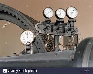 Steam Engine  Flywheel  Detail  Printing Metering Gauges  Machine Stock Photo  122946151