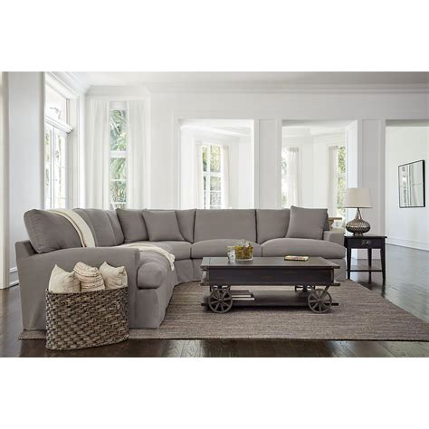 city furniture delilah gray fabric large  arm sectional