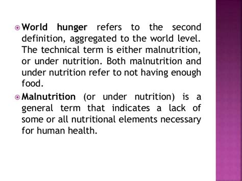 the meaning of the hunger world hunger presentation ppt