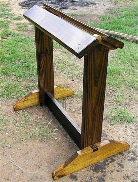 saddle rack stand saddle stand by jim55 lumberjocks
