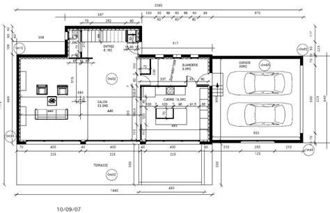 plan de cuisine centrale plan rez de chaussée maison avec grand salon pour pièce à