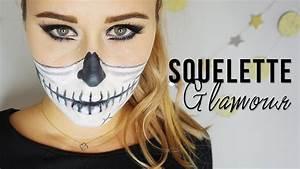 Maquillage Squelette Facile : tutoriel maquillage halloween squelette glamour ~ Dode.kayakingforconservation.com Idées de Décoration