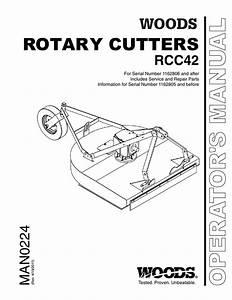Woods Equipment Rcc42 User U0026 39 S Manual