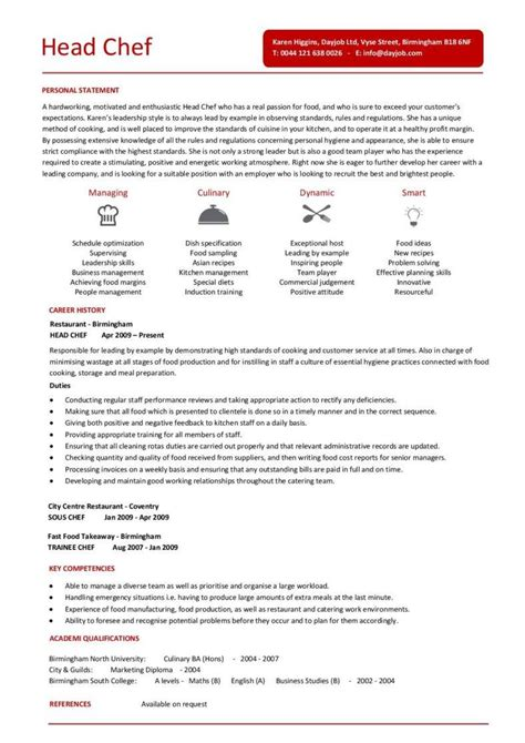 Sample Chef Resume Template