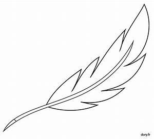 Dessin De Plume Facile : dessin imprimer une plume d 39 oie coloriages ~ Melissatoandfro.com Idées de Décoration