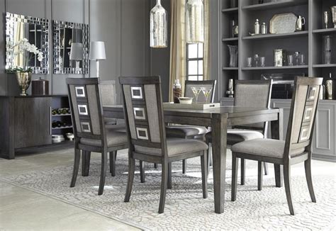 Ashley Chadoni D Dining Room Set Pcs In Gray With