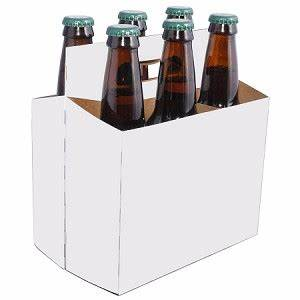 6 bottle beer carriers 12 oz generic white 6 pack With six pack holder template