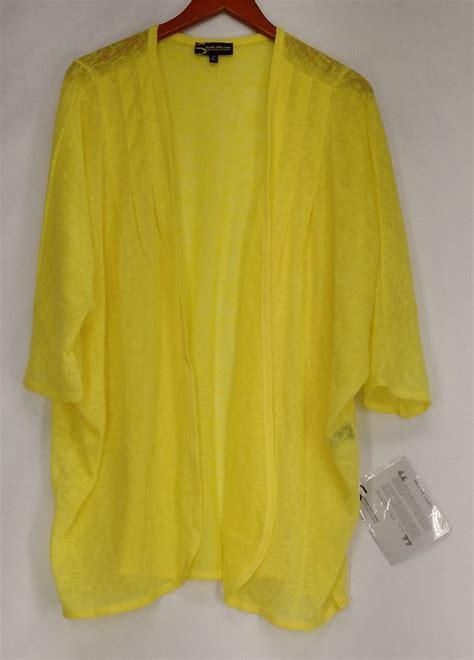 yellow cardigan sweater serena williams plus size sweater 2x dolman sleeve open
