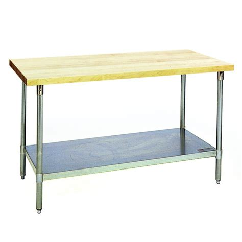 eagle group mts wood top work table  stainless