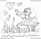Outline Fox Coloring Match Royalty Clipart Lighting Illustration Rf Bannykh Alex Notes Copyright Regarding Without sketch template