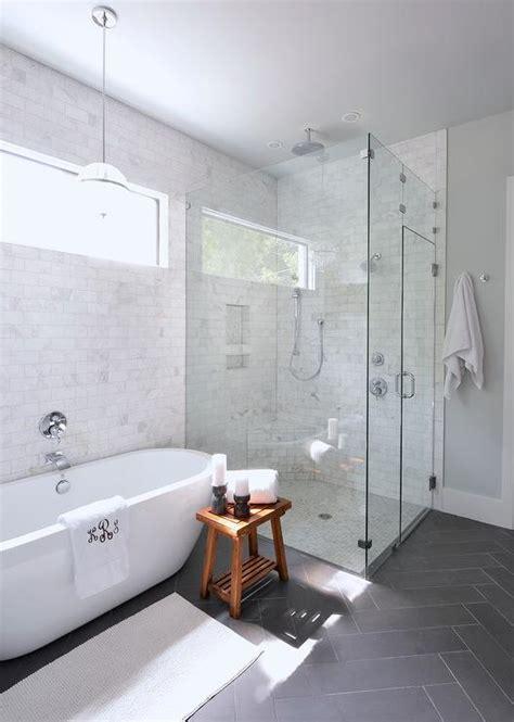 freestanding tub pendant transitional bathroom