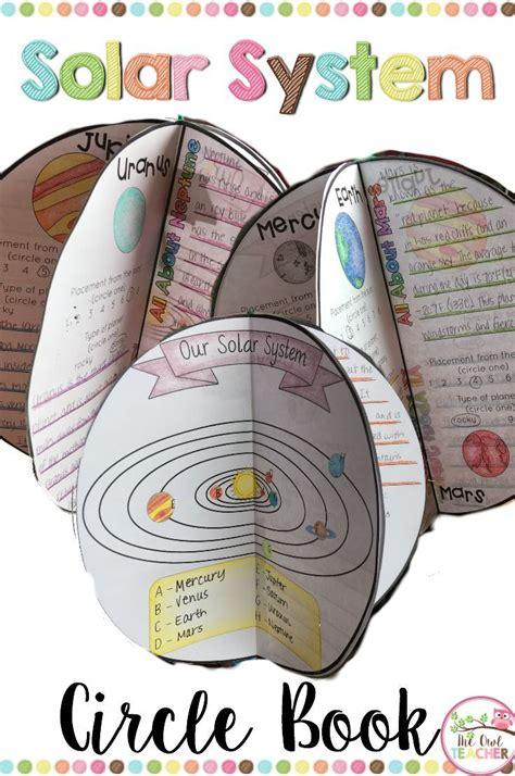 planets  solar system circle book solar system
