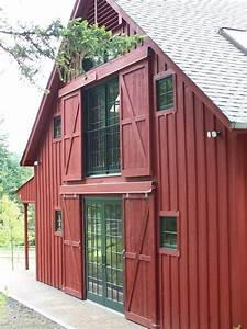 guest barn With barn style front entry door
