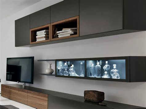 Weiße Wände Aufpeppen by Die Moderne Wohnwand Ist Praktisch Und Bietet Viel Stauraum An