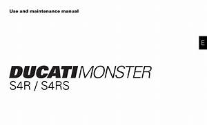 Ducati Ms4r S4rs 2008 Owner U2019s Manual