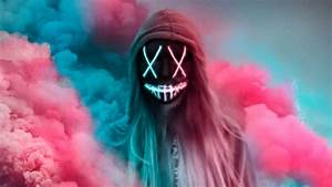 Neon, Mask, Girl, Colorful, Gas, Hd, Artist, 4k, Wallpapers, Images, Backgrounds, Photos, And, Pictures