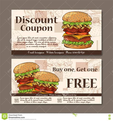 promo cuisine fast food meal in style vector illustration