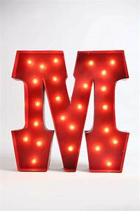 marquee alphabet light clear With lighted letter m