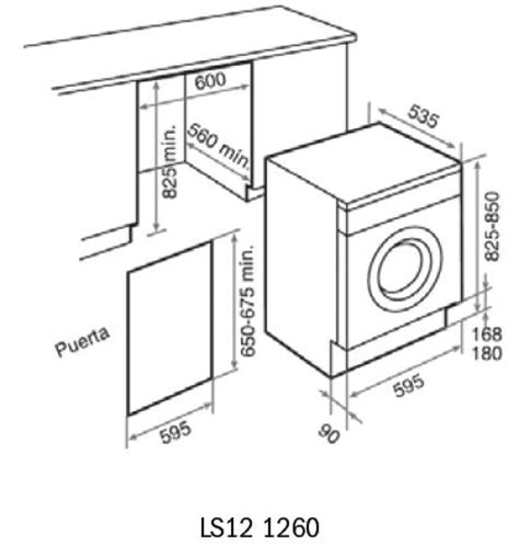 kitchen island ls ls12 1260 washing machine dimensions