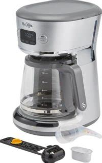 Get performance ratings and pricing on the mr. Mr. Coffee - Easy Measure 12-Cup Programmable Coffee Maker - Silver - Just Slashed
