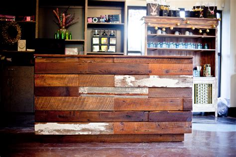 floating wood floor city salon and spa makeover athens ga reclaimed wood
