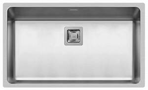 Spüle 80 Cm : design sp le castalo edelstahl poliert unterbausp le oder fl chenb ndig schrankbreite 80 cm ~ Frokenaadalensverden.com Haus und Dekorationen