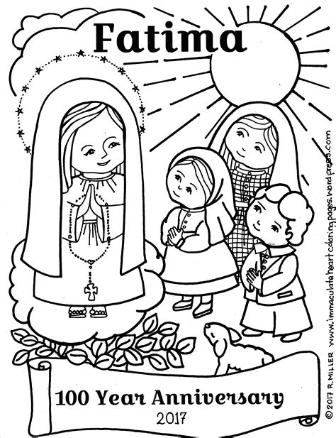 lady   rosary coloring pages coloring pages