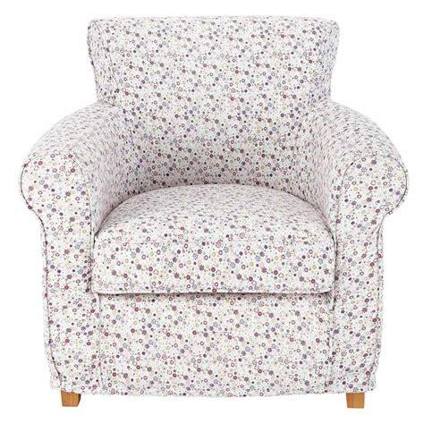 maison du monde siege fauteuil enfant en coton imprimé fleurs ines maisons du