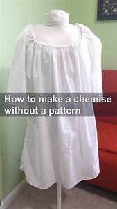 Easy Diy Sewing Tutorial For A Simple Chemise Made Of Only