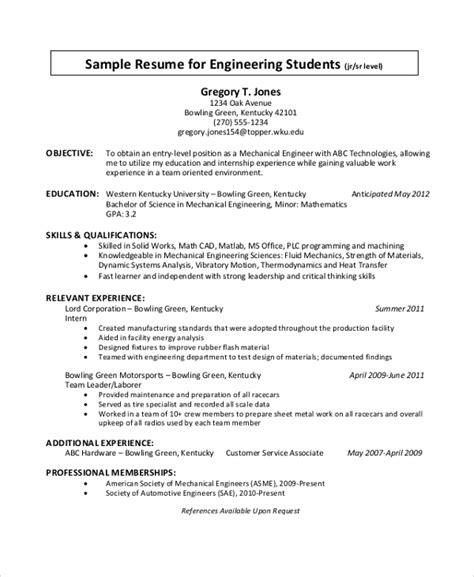 Completed courses in fluid mechanics, thermodynamics, heat and mass transfer, machine design, math for engineers, mechanical vibrations, industrial processes, and elements of material engineering. FREE 7+ Sample Engineering CV Templates in PDF | MS Word