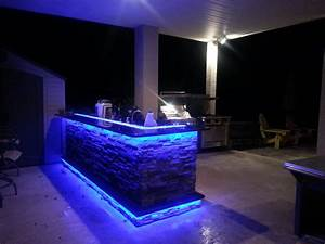 Outdoor kitchens with led lighting photos premier